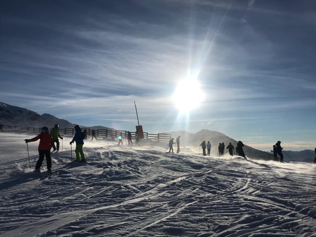 Alpine lifestyle in the snow