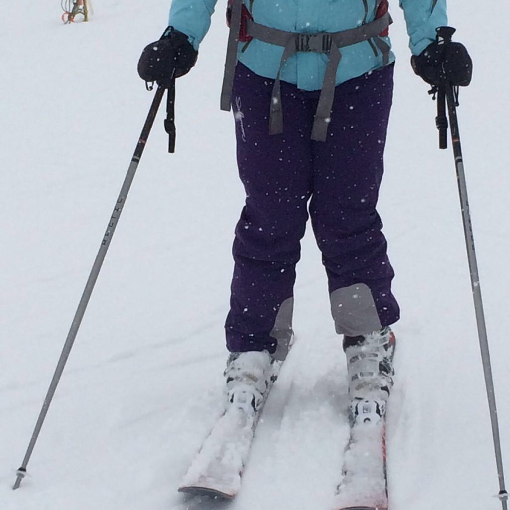 A-frame skier
