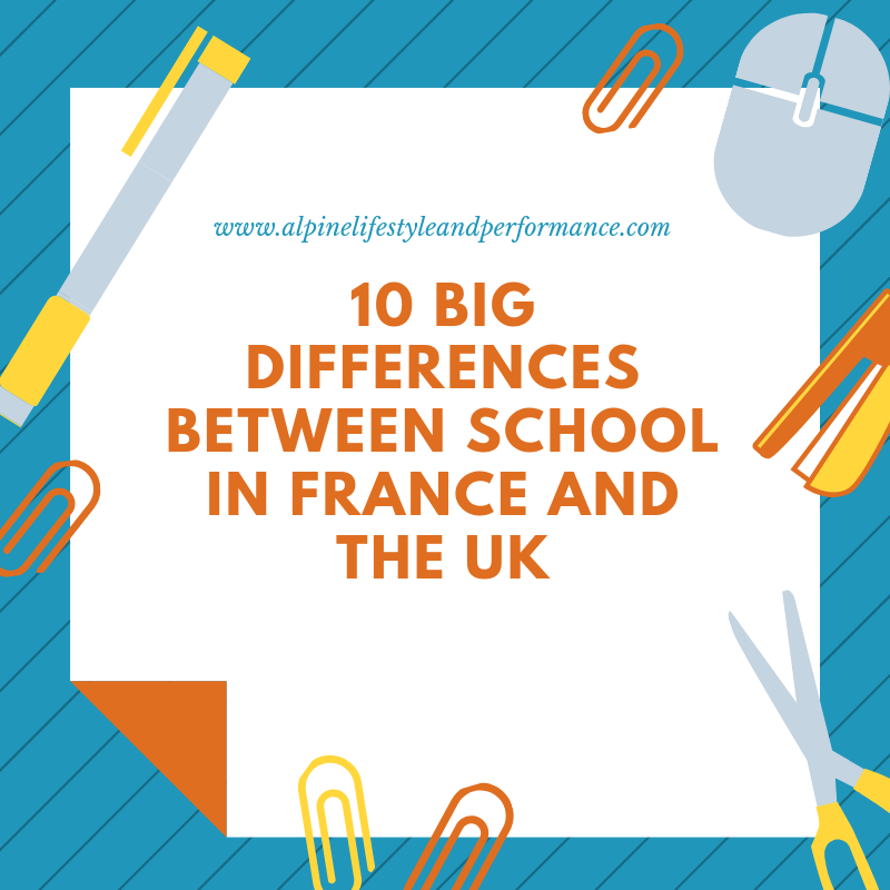 Differences between school in France and the UK