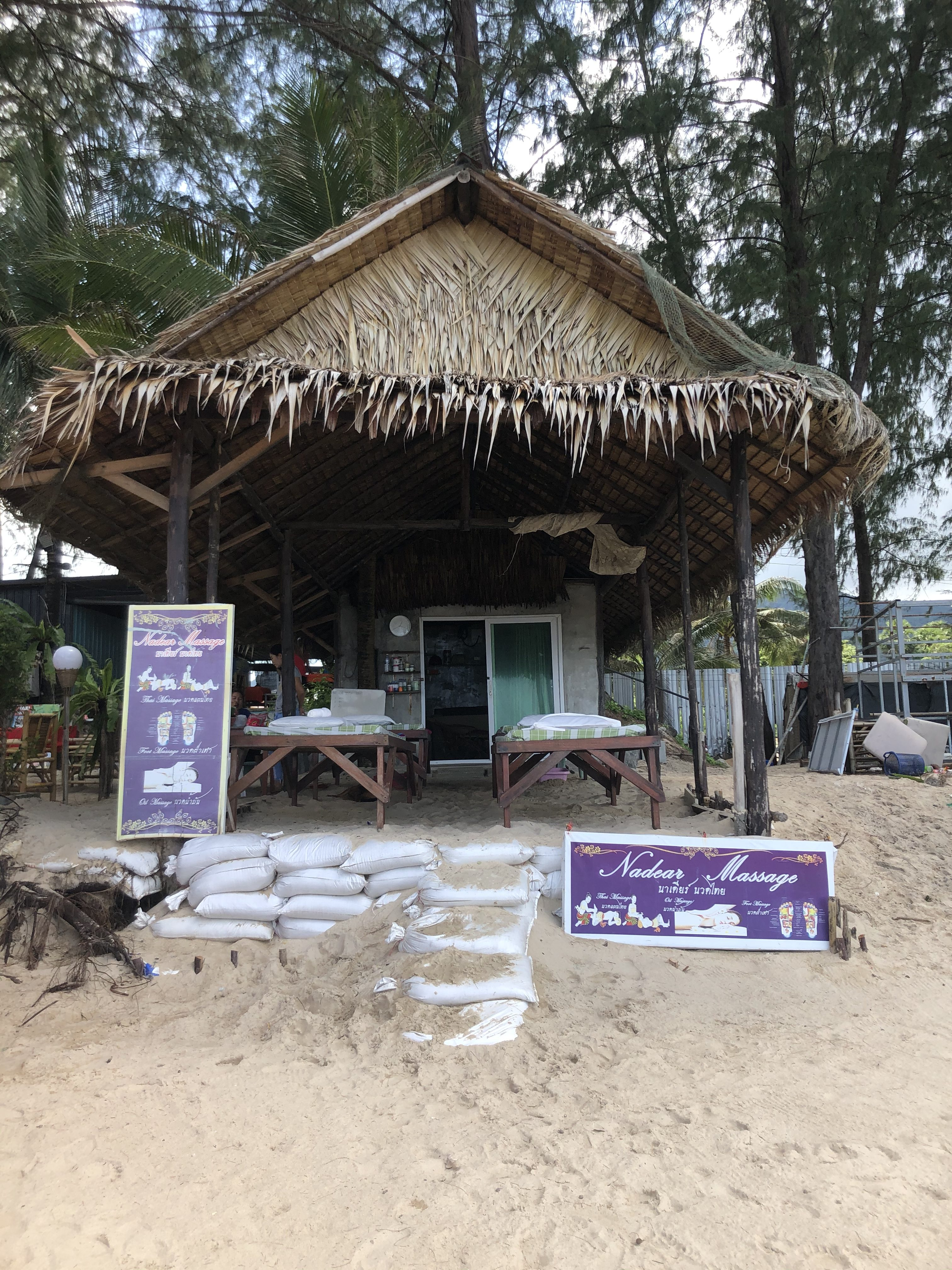 Thai massage on the beach