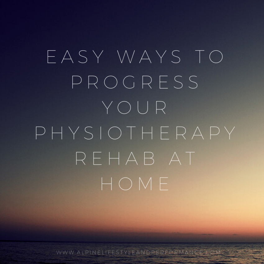 Physiotherapy rehab at home