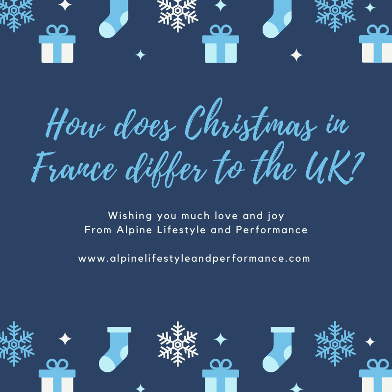 How does Christmas in France differ to the UK?